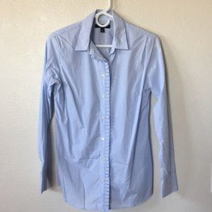 Banana Republic fitted white/blue button-down